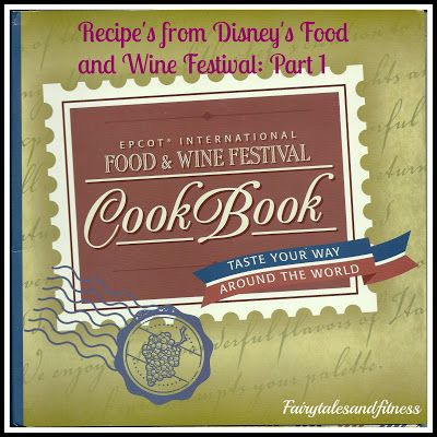 Epcot Food and Wine Festival Recipes and Map