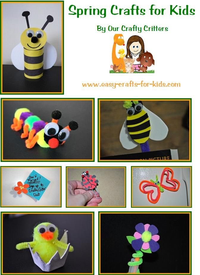 Spring is in the air! Keep the new life and sunshine of spring all year long with these Spring crafts for kids! www.easy-crafts-for-kids.com/spring-crafts-for-kids.html