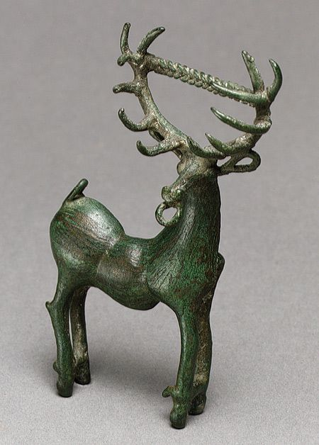 Brooch in the form of a stag, late 3rd–early 4th century Caucasus region Bronze Anatolia