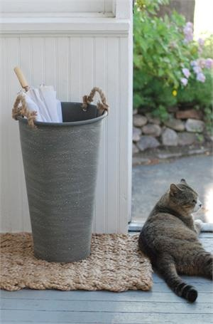 Zinc French Flower Bucket with Jute Handles