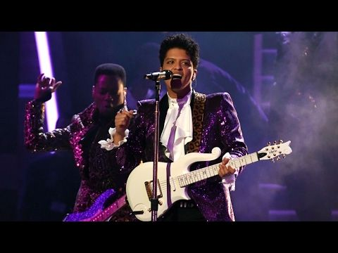 Bruno Mars Full Performance Prince Tribute at 2017 Grammys - Best of the night - YouTube