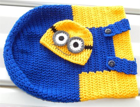 Minion style cocoon and Beanie