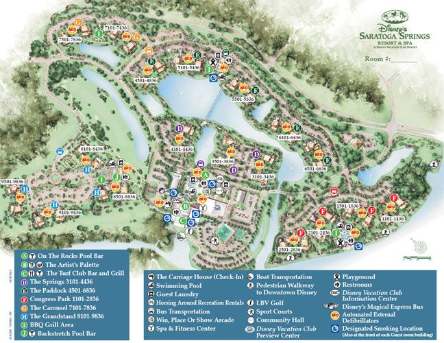 Saratoga Springs Resort and Spa Map