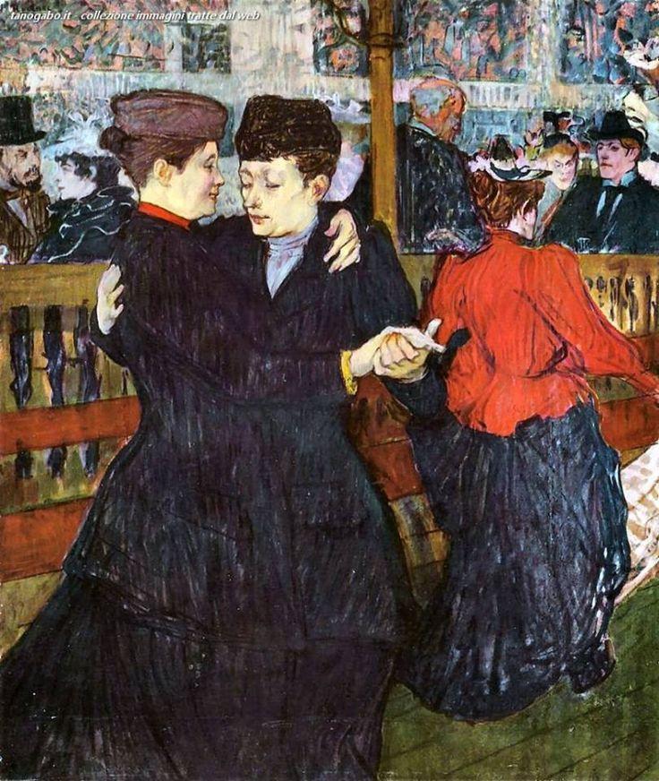 Henri de Toulouse-Lautrec  Al Moulin Rouge   Valzer sulla pista da ballo