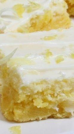Cream Cheese Lemon Bars!! Lemon Zest and Lemon Juice Provide a Fresh Lemony Flavour ~ Moist and Full of Flavour!!
