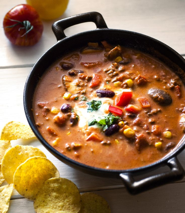 While This Chili Soup Only Takes About 30 Min To Cook It