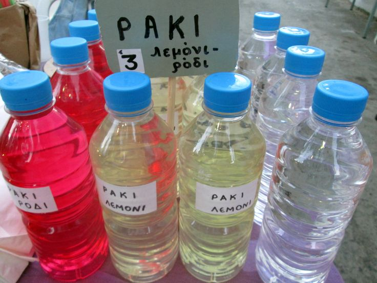 All possible varieties of Cretan raki