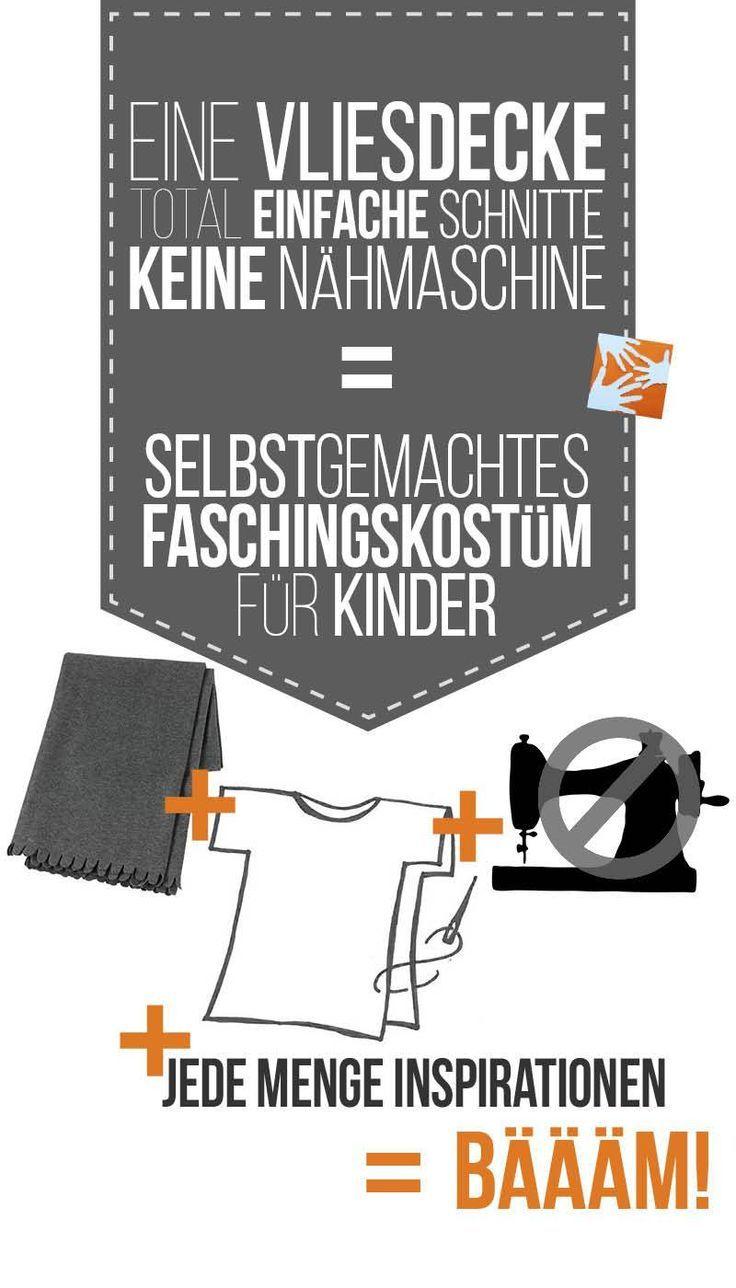 No-sew Faschingskostüme ohne Nähmaschine: Anleitungen und Ideen en masse bei Muttis Nähkästchen