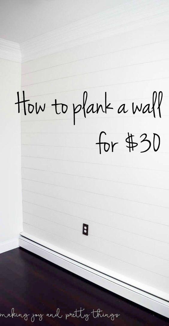 shiplap wall | diy shiplap wall | POSSIBLY CAN USE FOR MY 'DREAM' SHIPLAP BED HEADBOARD!