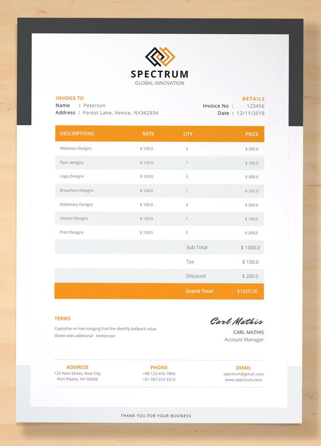 Professional Invoice Template Ai Eps With Images Invoice Template Templates Invoicing