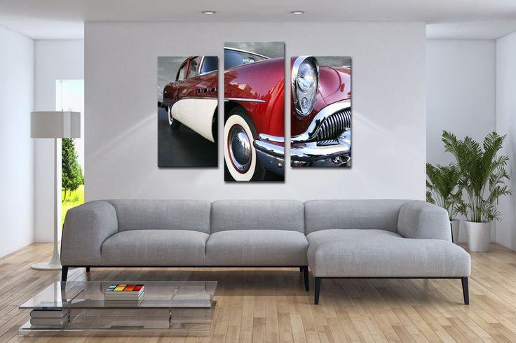 Idealny prezent dla fana motoryzacji a jednocześnie stylowa dekoracja waszego salonu  #homedecor #fototapeta #obraz #aranżacjawnętrz #wystrójwnętrz, #decor #desing