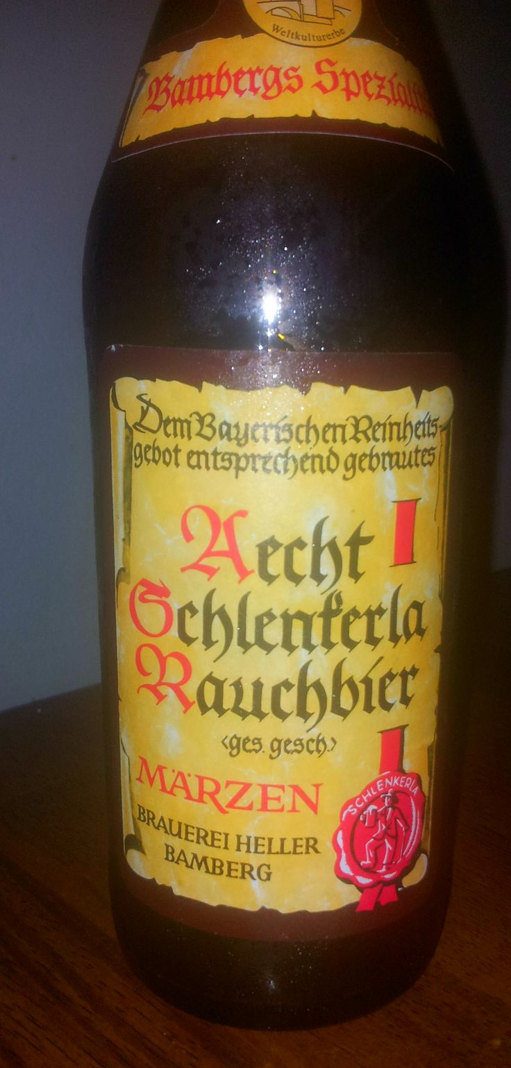 Aecht Schlenkerla Rauchbier Märzen - Brauerei Heller-Trum / Schlenkerla -  Frankly, this beer is not my cup of tea. It doesn't mean that it's bad beer. BeerAdvocate score is 91 - that means outstanding! But for me it was like a smoky liquid meat. But also we are really new for the smoky beers, so this is only our opinion NOW. Let's see after year from now wink emoticon Some reviews from BA: taste: Smoked meat, bacon, coffee notes, fantastic, out-of-the-box beer.