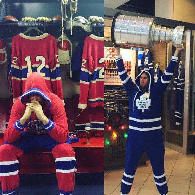 What's your team? All our #NHL onesies are on sale for 15% OFF for the next week!! Imagine yourself watching the game in one of these, beer in hand. Could life get any better? #leafs #canadiens  #hockey #montreal #canada #toronto #yyz #onesie #smallbusiness #sale #deal