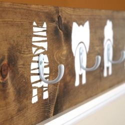 Animal bums. #reclaimed #wood #hooks