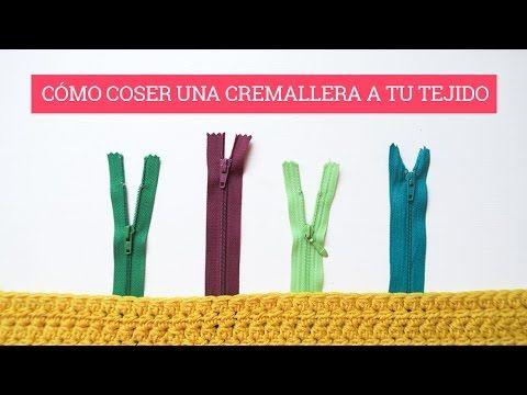 Cómo unir una cremallera a ganchillo | How to sew a zipper - YouTube
