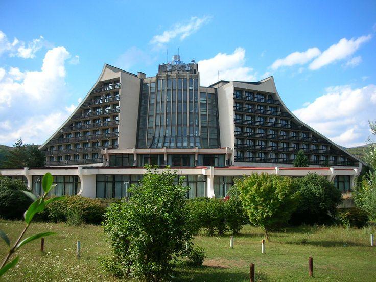 Kosovo - Abandoned communist era Hotel Narcis