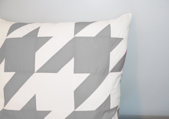 Houndstooth Pillow Cover in Gray by decoYellow $60.00 at Etsy.com