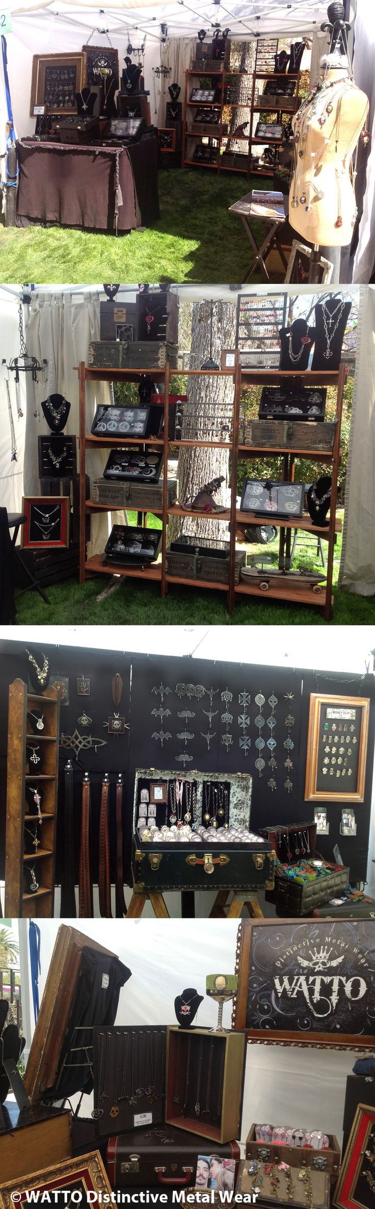 WATTO Distinctive Metal Wear booth setup #vendor displays #craft booth # art booth  www.facebook.com/...