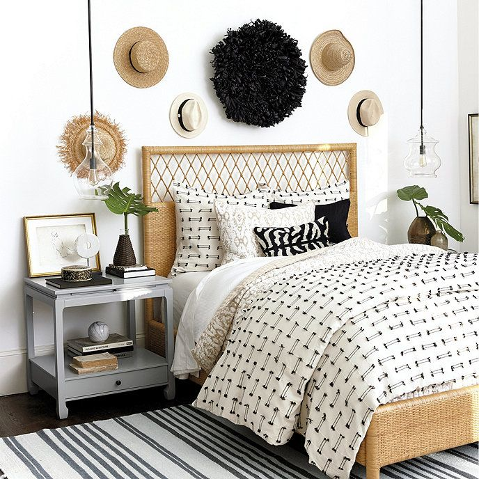 Suzanne Kasler Southport Rattan Bed, Dream Bedding Southport