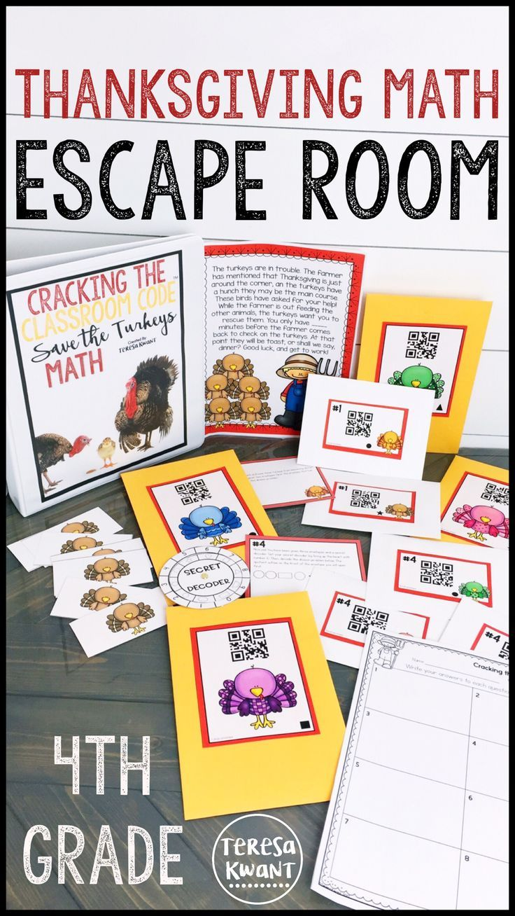 Escape rooms are the latest new craze taking over the classroom. This escape room is for fourth grade, and focuses on multiplication. Your 4th grade students are sure to love the math game, which is also perfect for review! This is a fun activity for the Thanksgiving season during the month of November.
