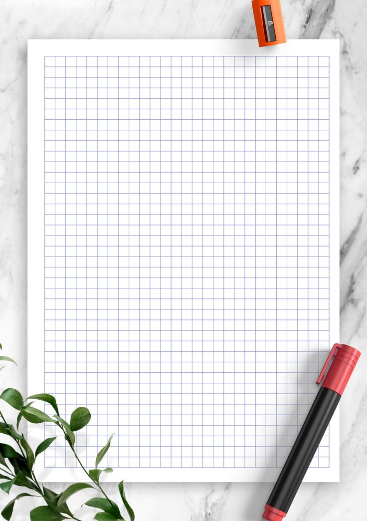Printable Graph Paper Template with 5 mm square. Choose