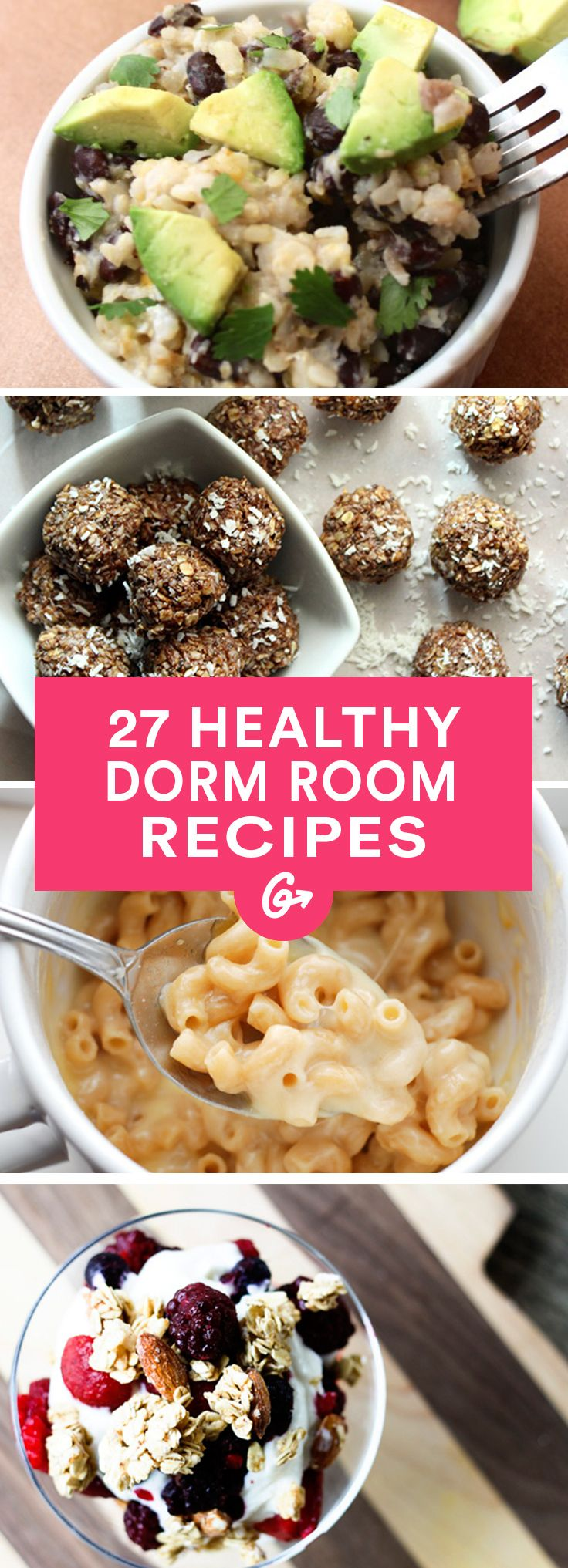 27 Healthy Recipes You Can Make in Your Dorm Room #healthy #recipes #college http://greatist.com/eat/healthy-dorm-room-recipes