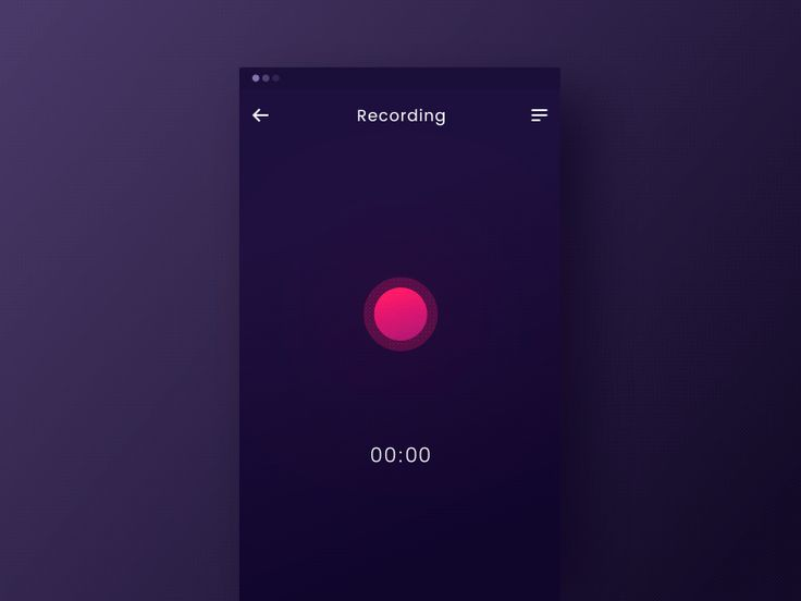 Experimental recording concept  by Valentin Salmon #Design Popular #Dribbble #shots