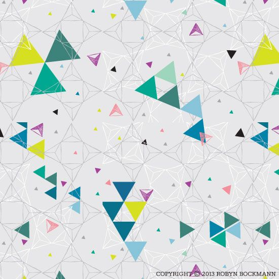 """""""Tri-Angles"""" Original surface pattern design by Robyn Bockmann of 3 Miles Creative.  Copyright 2013."""