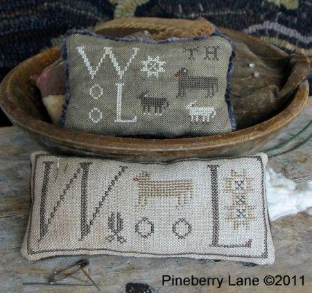 .Crossstitch Embroidery, Crosses Stitches Pattern, Pineberry Lane, Needlework, Pin Cushions, Pincushions, Counting Crosses, Wool Pinkeep, Cross Stitches