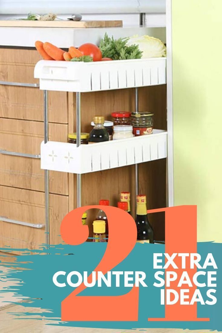21 Ideas For Extra Kitchen Counter Space In A Small Apartment Tiny Partments In 2020 Counter Space Small Apartments Space Savers