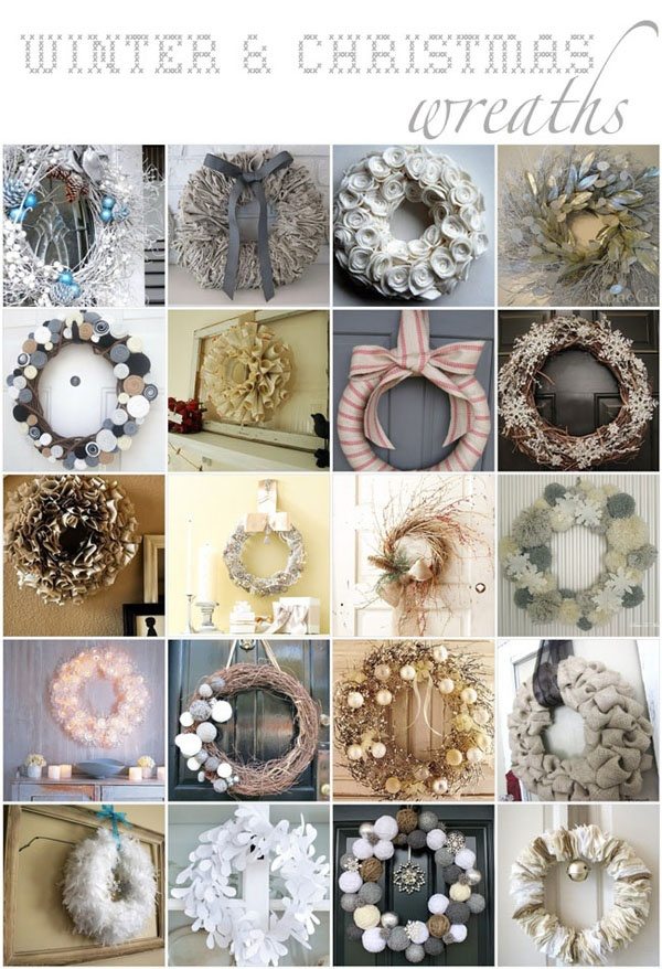 Happiness is handmade: wreaths - ghirlande per l'inverno e il Natale