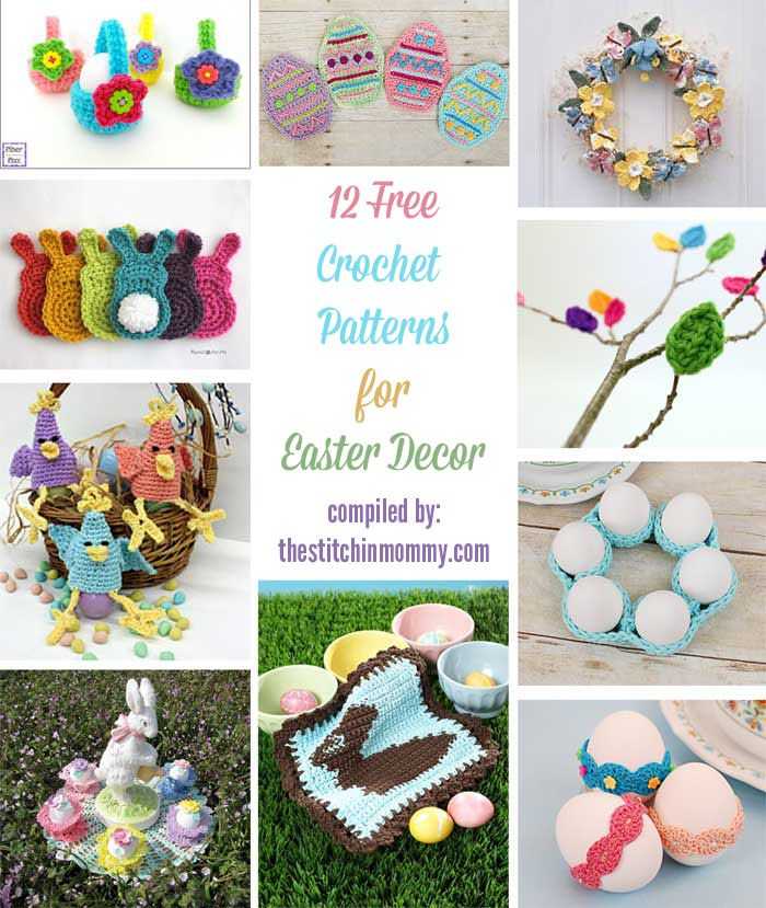 Make your home festive this Easter by dressing it up with handmade crochet Easter decor! Here are 12 free patterns for you to enjoy.