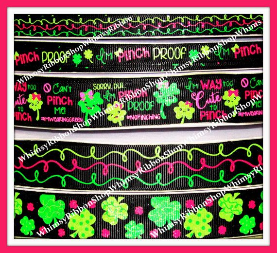 New 1 2 3 4 or 5 yards 3/8 7/8 St Patricks Day by WhimsyRibbonShop