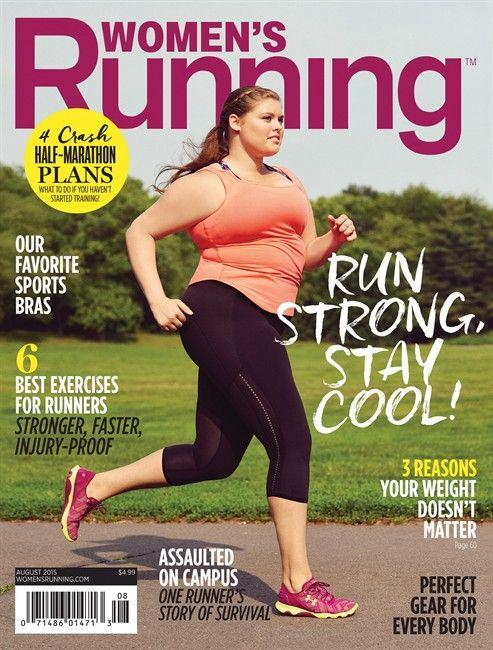 Эрика Шенка, который был бегун в течение 10 лет, видно на обложке издания Женская Running августа 2015.  Журнал делает международные заголовки для изображения модели плюс размер на обложке своего августовского номера, который фокусируется на позитивности тела.  Canadian Press / HO - Женская Летние