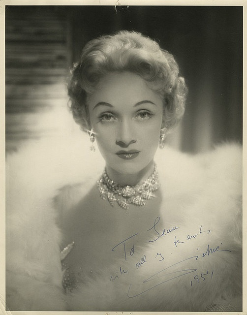 Marlene Dietrich (autographed)