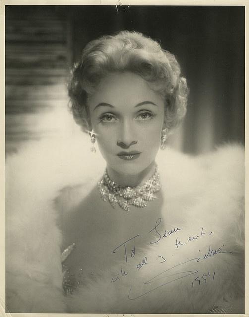 Marlene Dietrich (autographed)
