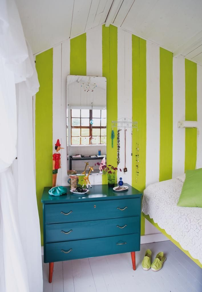Fantastic Color Combo Love The Teal Red Against Lime And White Stripes For Home Pinterest Bedroom Guest Bedrooms House