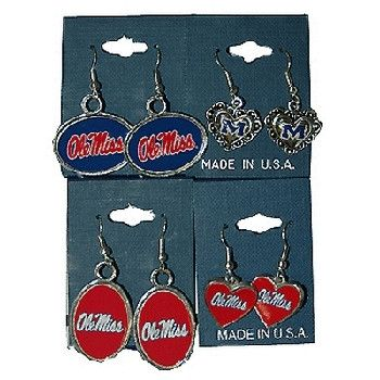 University Of Mississippi 'Ol Miss Jewelry Earring Case Pack 36