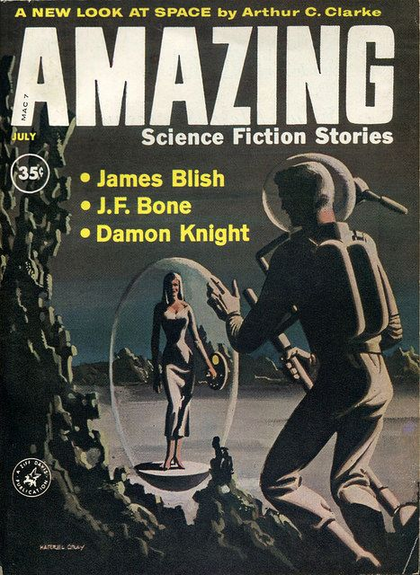 scificovers:  Amazing Science Fiction Stories July 1960. Cover by Harrel Gray.