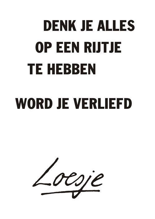 Verliefd worden, Loesje...