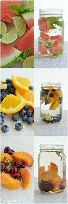 Doctors and nutritionists tell us to drink at least 78 oz of water a day, Some say 96 oz. One of the best ways to do this is to drink infused water to make drinking water much more exciting. Try these free recipes.