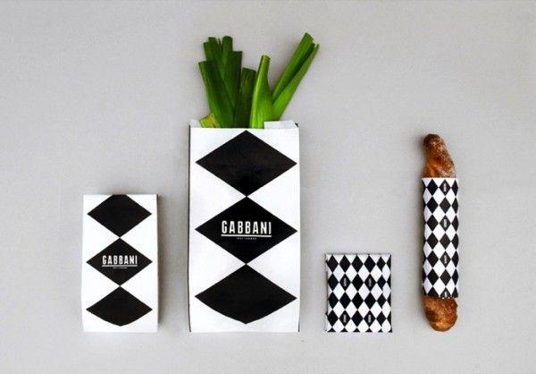 packaging: Food Display, Food Branding, Demian Conrad, Food Packaging, Packaging Design, Graphics Design, Black White, Branding Identity, Gabbani Modern