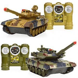 Dynasty Toys Laser Tag Tanks - LED Battling Tanks Toys - RC Tanks