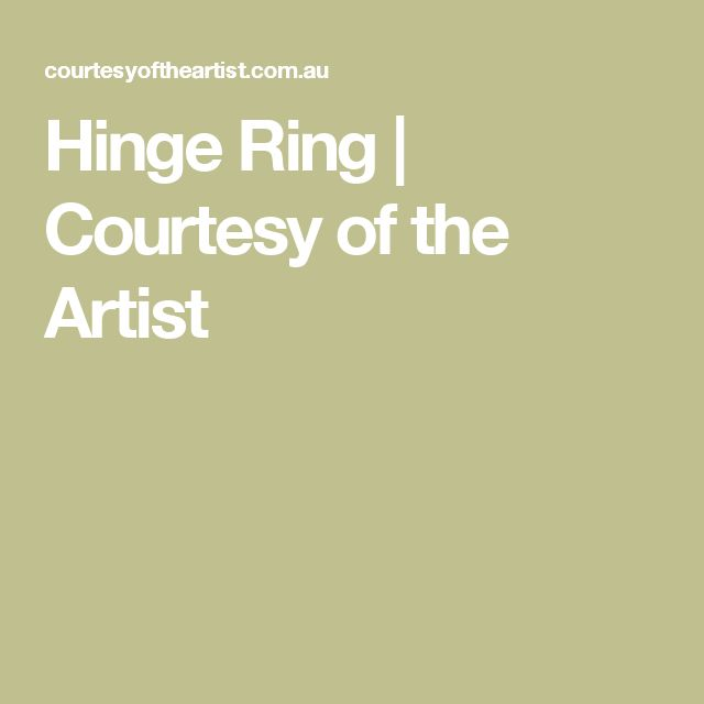 Hinge Ring | Courtesy of the Artist