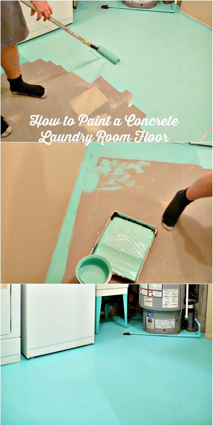 How to paint a concrete laundry room floor.  I want to paint our bedroom floor but don't want to wait weeks for it to cure.  Looks like this paint cures a little faster than I thought they did.