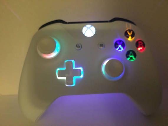 Dies Ist Eine Spezielle Underglow Design Fur Den Xbox One Controller Bieten Wir Freuen Sie Sich Auf Die Abxy Xbox One Controller Custom Xbox Xbox Accessories