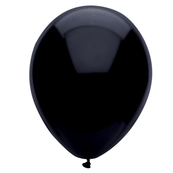 schwarzer luftballon.