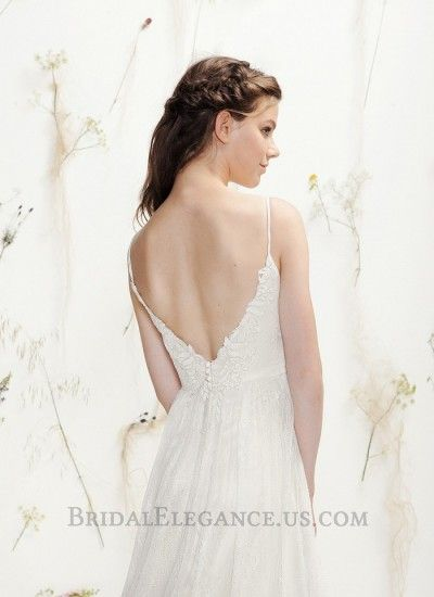 Embroidered Lace A-Line Gown | Wedding Dress | Bridal Elegance