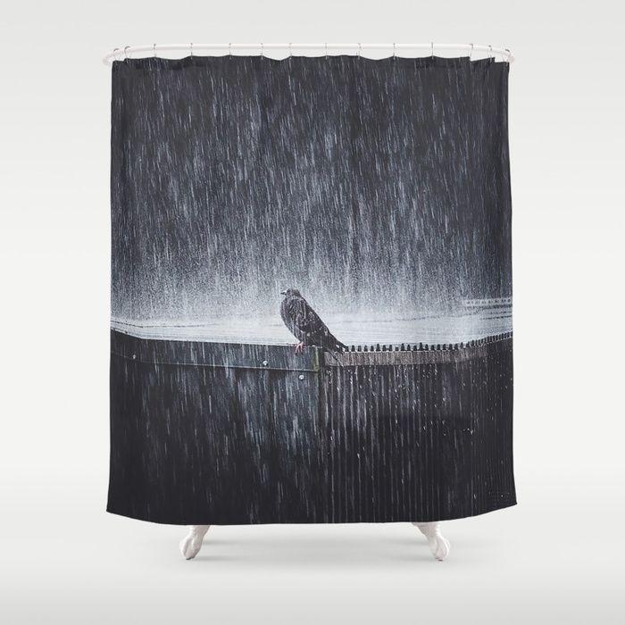 Hashtag Mondays Shower Curtain by HappyMelvin.