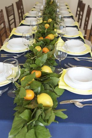 DIY: Making a Lemon Leaf Garland - Project Wedding  http://www.projectwedding.com/ideas/309963/diy-making-a-lemon-leaf-garland